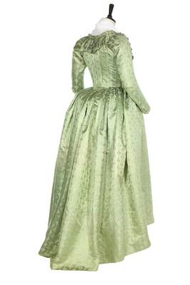 Lot 45 - A rare brocaded satin pregnancy robe, 1790s,
