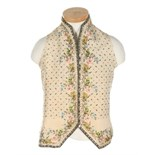 A pair of men's doeskin breeches, 1790-1800, with small-fall front opening, self covered buttons,