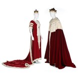 Coronation robes for a Viscount and Viscountess, first half 20th century,