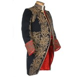 An elaborately embroidered gentleman's court coat, French, 1860-80,