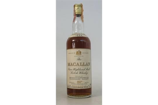 MACALLAN 1962 - 80 PROOF 1 bottle  Macallan 1962 Vintage Single Malt