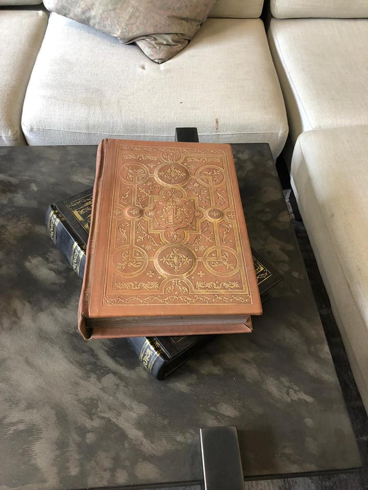 Lot 44 - Comments Book Vintage Cigar Leather Bound Inspired by the library of historic Blenheim Palace,