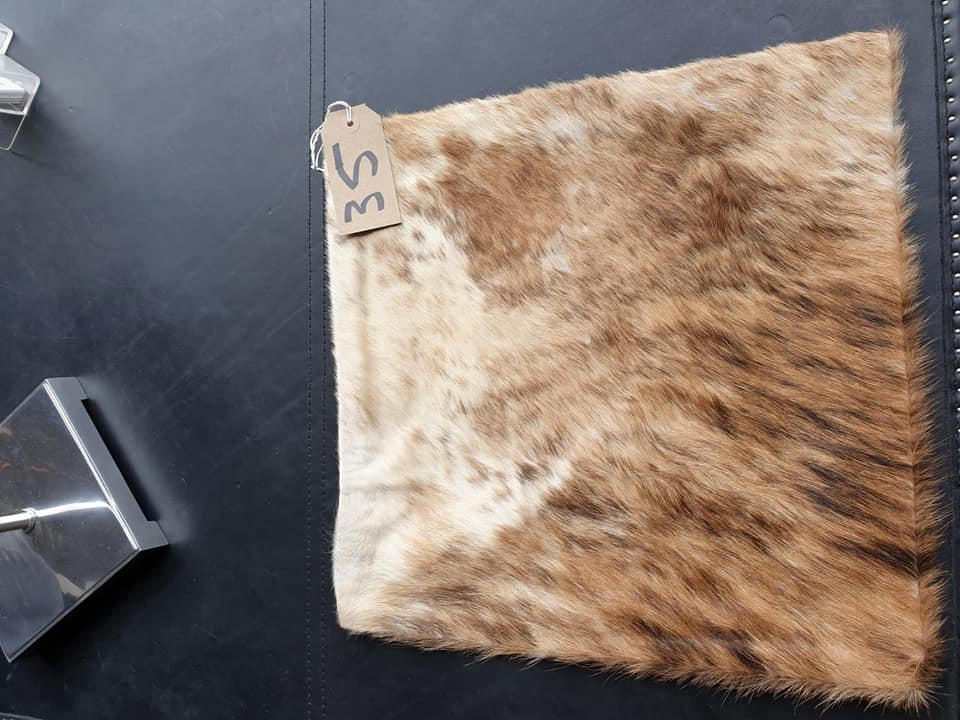 Lot 35 - Cushion Cowhide Leather Cushion Cover 100% Natural Hide Handmade Cover (Style PR435 x1) 35cm RRP £