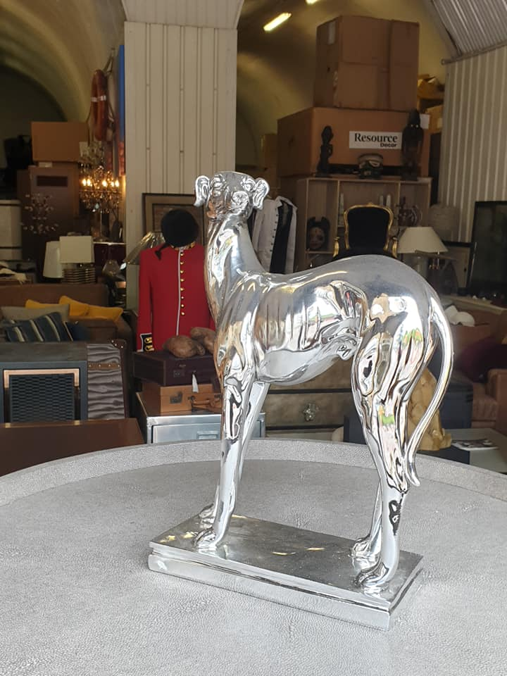 Lot 15 - Large Electroplated Greyhound This unique aesthetically pleasing electroplated bulldog is perfect