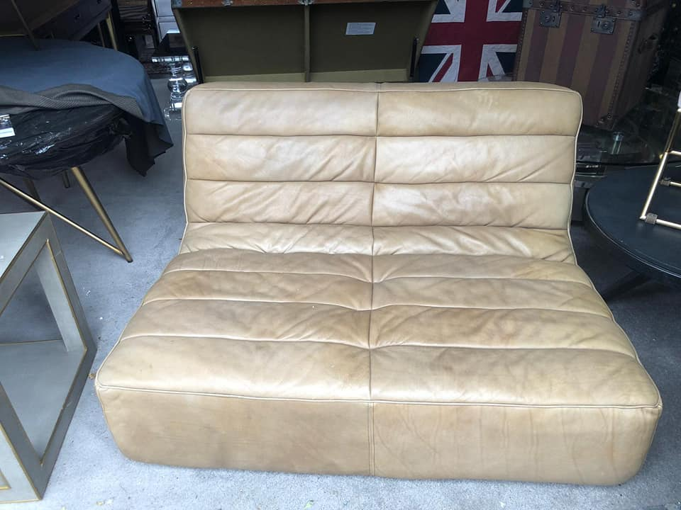 Lot 49 - Shabby 2 Seater Sofa Full Rebel Leather High impact comfort seating, commonly known as our true '