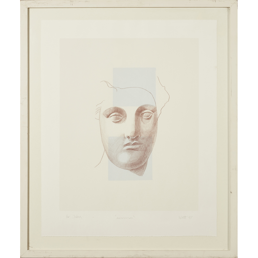 Lot 102 - [§] ALISON WATT O.B.E., R.S.A. (SCOTTISH B.1965) NARCISSISM Signed and dated '97 in pencil, inscrib