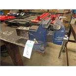 """Steel Table with 2 Vices 4' X 10' - 1/2"""" plate 38"""" High"""