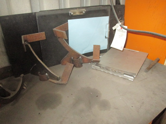 """Lot 218 - Metal Work Table and Contrents 78"""" X 22"""" ( Clamps and Hoblers)"""