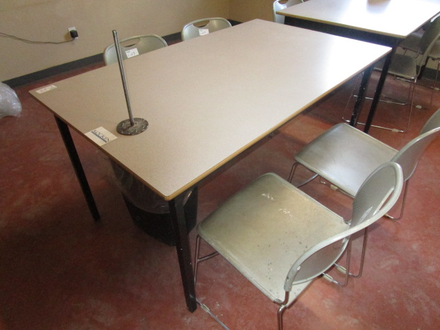 Lot 23 - 5' Table with 4 Chairs