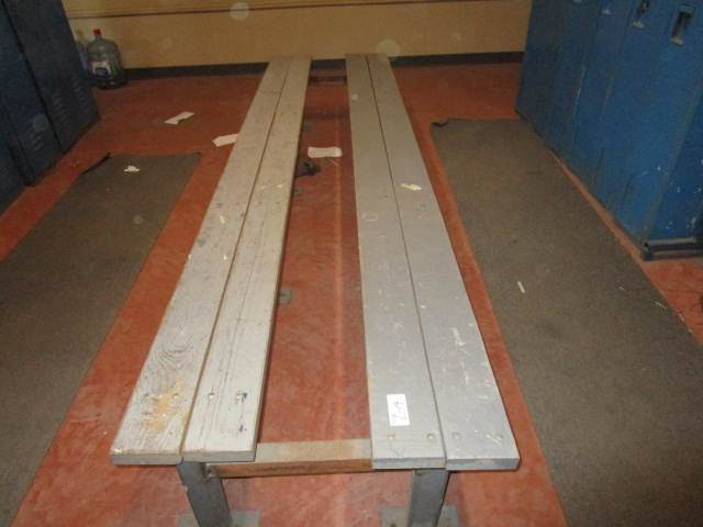 Lot 19 - Double Bench 10' Wood Seat Metal Frame