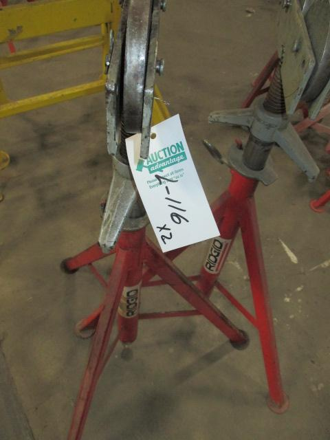 "Lot 116 - 2 Rigid 24"" Adjustable Pipe Rolling Stands"