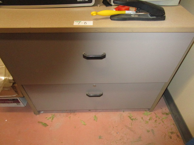 Lot 8 - 2 Drawer Filing Cabinet and Contents