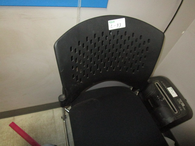 Lot 33 - Complete Office 2 Desks, 3 chairs, Brother DCP-L25550DW Copy/Scan /Shredder