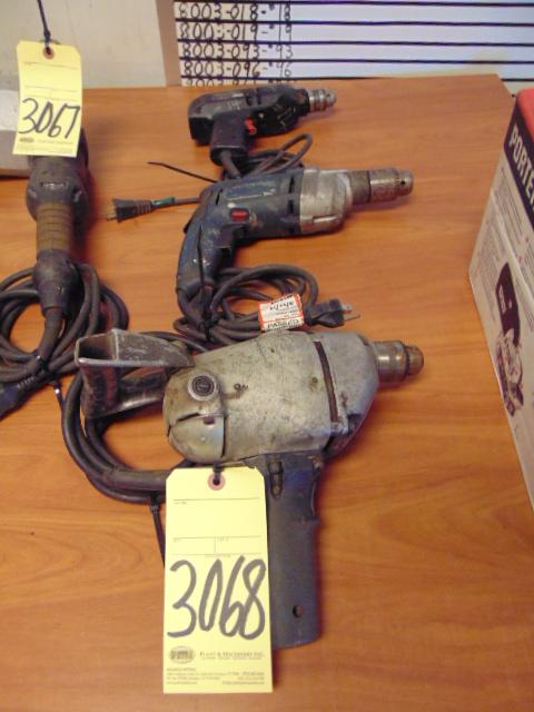 Lot 3068 - LOT OF ELECTRIC DRILL MOTORS (3), assorted