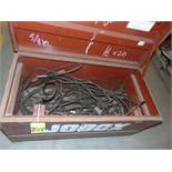 LOT OF JOBOXES (2), w/assorted wire rope slings