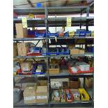 LOT CONSISTING OF: hardware & misc., assorted (in two sections of shelving)