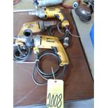 LOT OF ELECTRIC DRILLS (3)