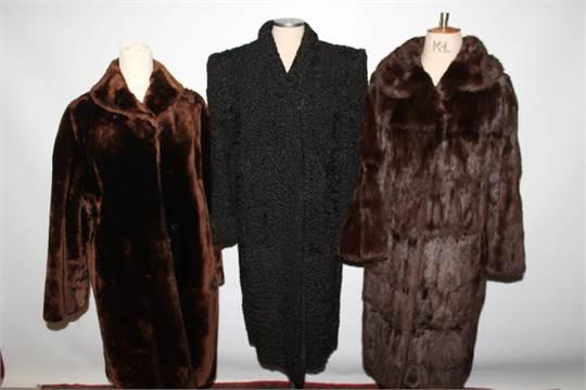 Vintage fur coats - including Pannofix Hungary beaver lamb, two ...