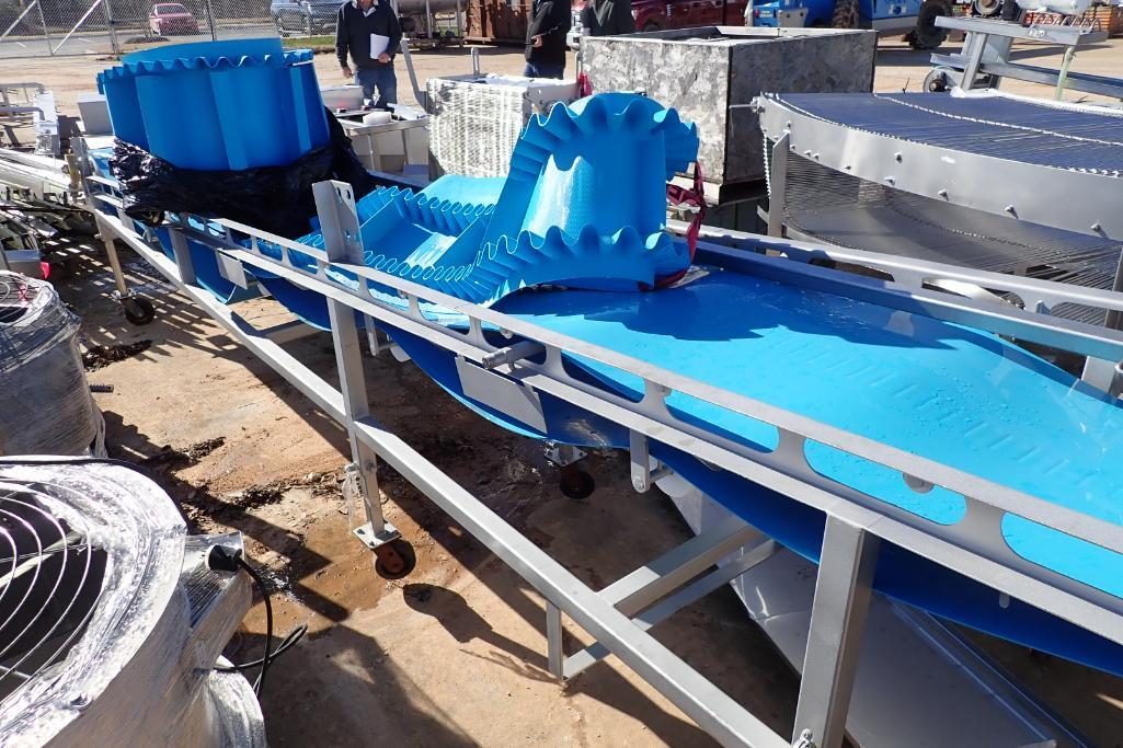 Lot 24 - SS incline conveyor - (Located in Fayetteville, AR)