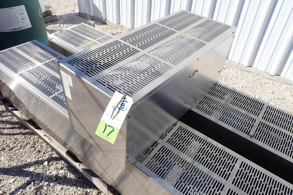Lot 17 - Pallet of Stainless Steel TMI air curtains - (Located in Fayetteville, AR)