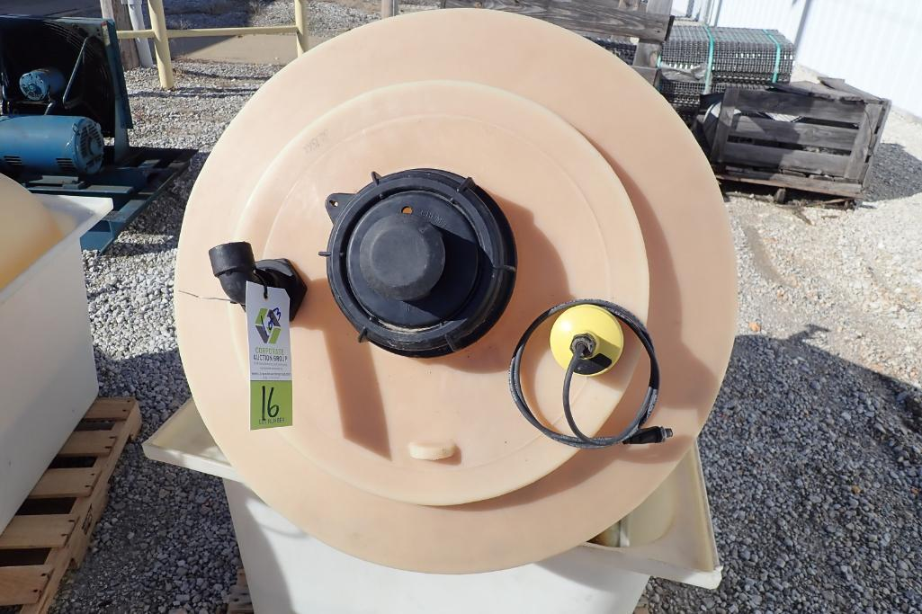 Lot 16 - (3) Poly chemical 150 Gal. storage tanks - (Located in Fayetteville, AR)