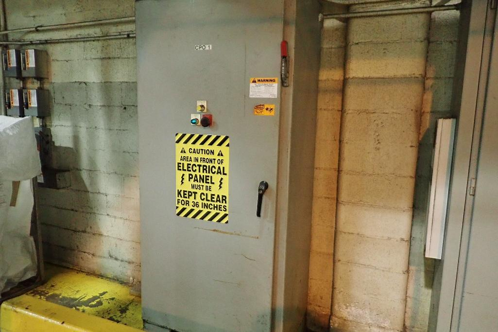 Lot 110 - Mild steel electrical panel for all conveyors. - (Located in Newport, TN)