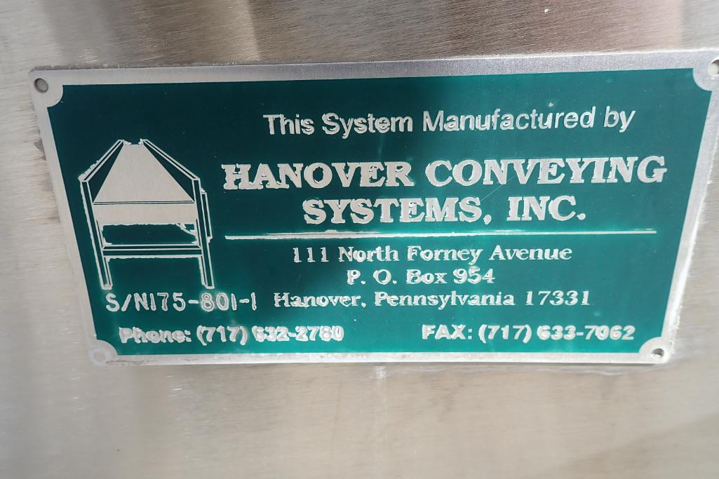 Lot 55 - Hanover Conveying oval up spiral conveyor - (Located in Fayetteville, AR)