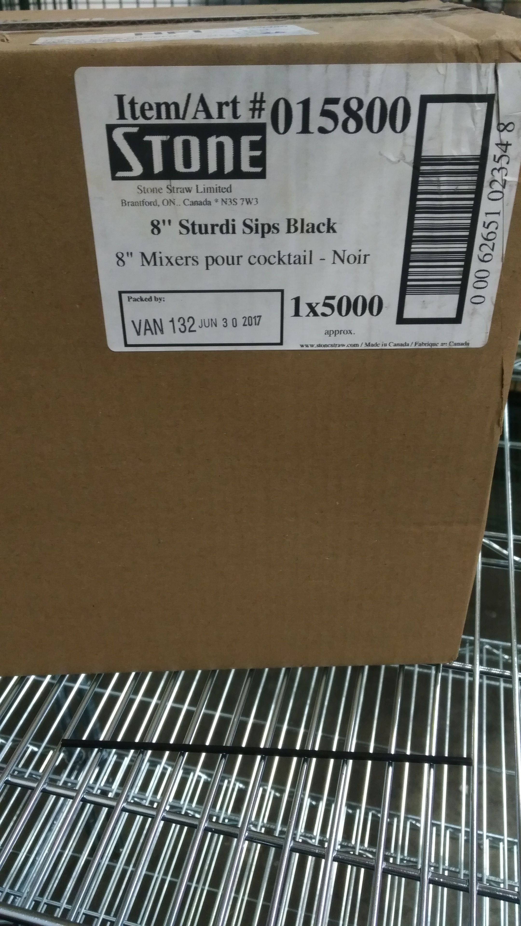 "Lot 31 - Stone 8"" Sturdi Cocktail Sips - Lot of 5000"