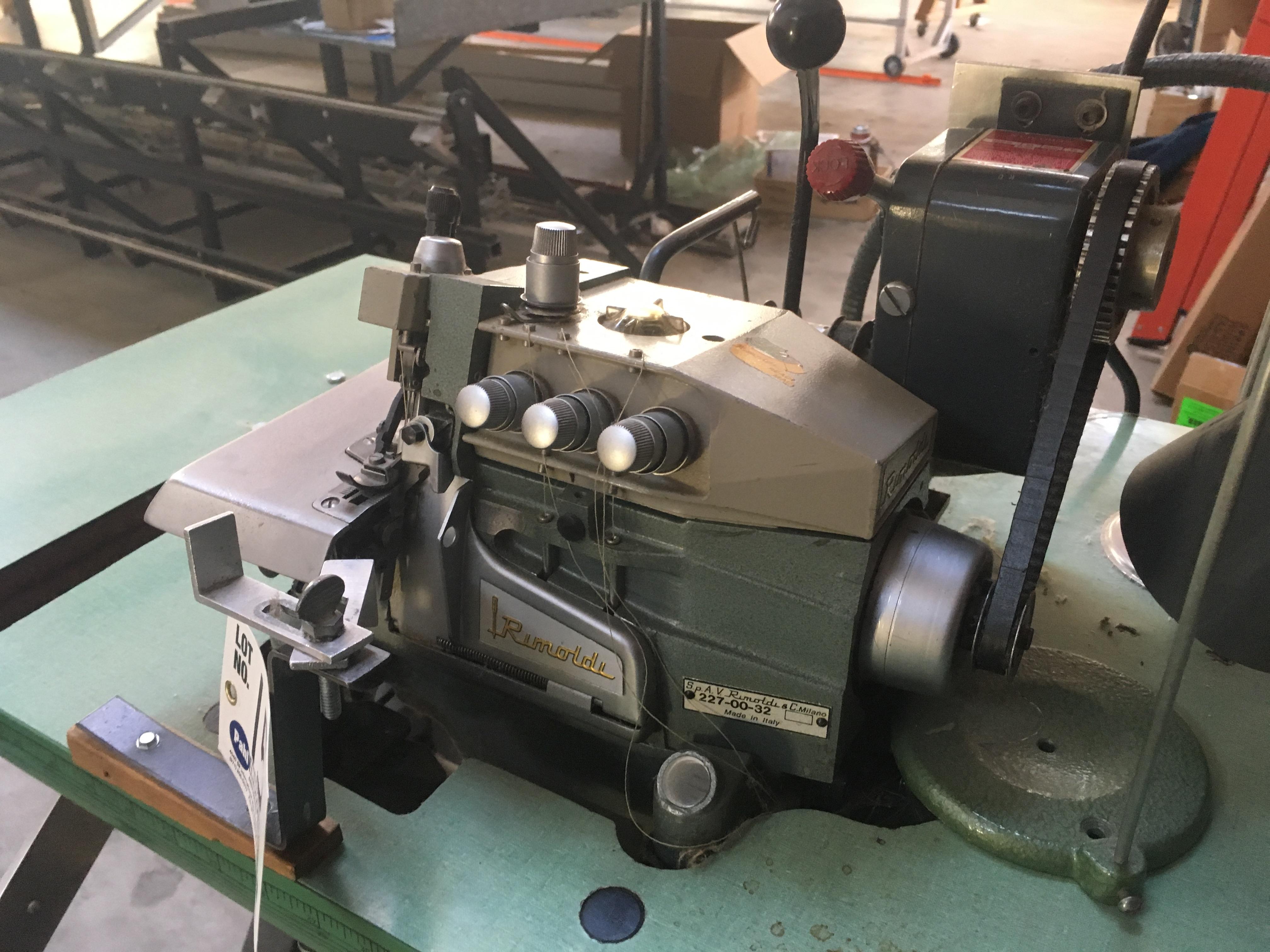 Lot 15 - Rimoldi 227-00-32 Serger Sewing Machine
