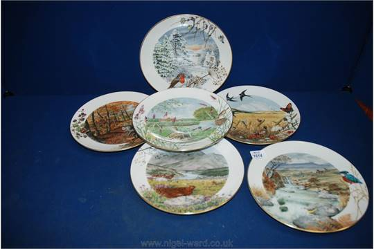 Six Royal Worcester u0027Months of the Yearu0027 display Plates by Peter Barnett. & Six Royal Worcester u0027Months of the Yearu0027 display Plates by Peter ...