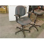 Lot 55 - GREY TASK CHAIR - NO GAS LIFT