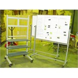 Lot 983 - 2 ROLLING WHITEBOARDS AND TV STAND