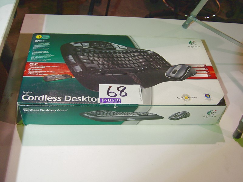 Lot 68 - LOGITECH CORLESS KEYBOARD & MOUSE