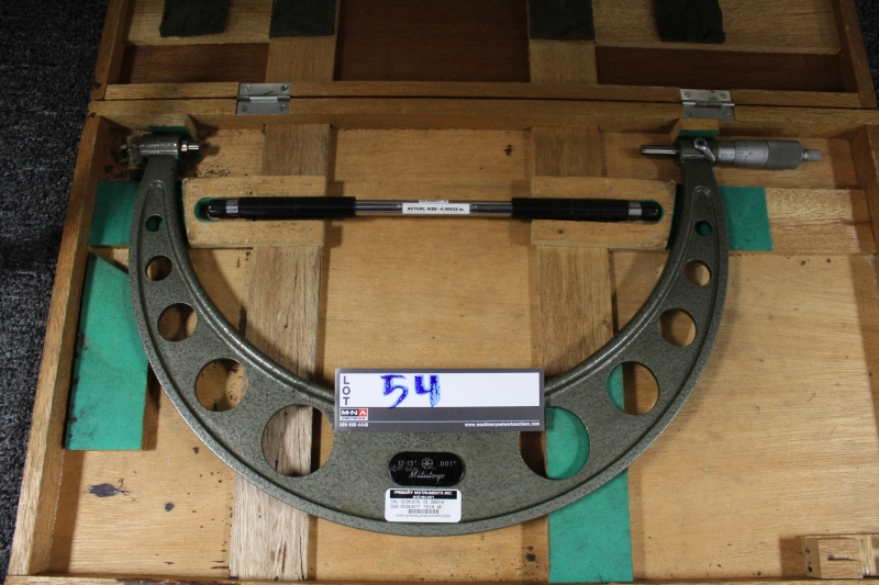 "Lot 54 - Mitutoyo 12""-13"" Outside Micrometer"
