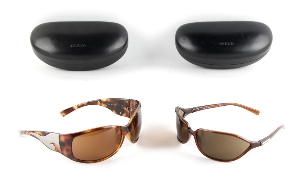 Property of a deceased estate - two pairs of Prada sunglasses, in Prada cases (2) (see