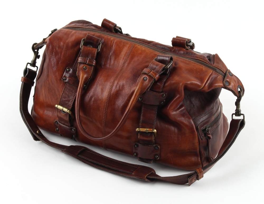 Property of a deceased estate - a Russell & Bromley brown leather bag (see illustration).
