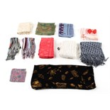 Property of a deceased estate - a quantity of silk & other scarves, including Celia Birtwell, Lida