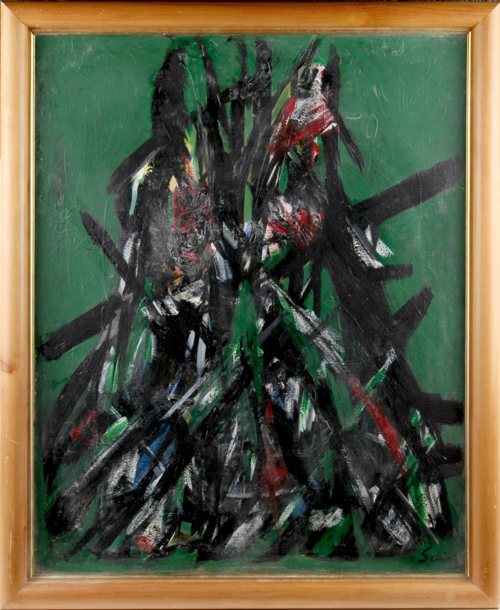Property of a gentleman - Selim Turan (born Istanbul 1915, died Paris 1994) - ABSTRACT - oil on