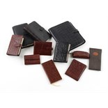 Property of a deceased estate - four Mulberry leather personal organisers; together with a