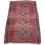 Property of a lady - an early 20th century Caucasian soumak (soumac or sumac), with red ground,