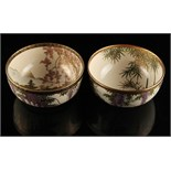 Two early 20th century Japanese Satsuma bowls, both signed, each 4.3ins. (10.9cms.) diameter (2) (