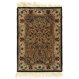 Property of a deceased estate - a silk 'Tree of Life' prayer rug, 37 by 25ins. (94 by 64cms.) (see