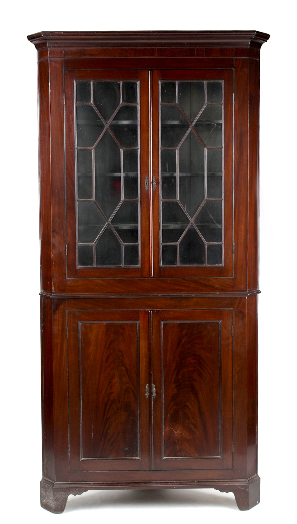 Property of a deceased estate - an early 19th century George IV mahogany two-part freestanding