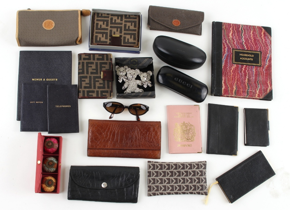Property of a deceased estate - a quantity of assorted items including a boxed Fendi notebook, a
