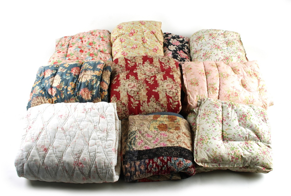 Property of a deceased estate - a collection of ten assorted quilts (10) (see illustration).