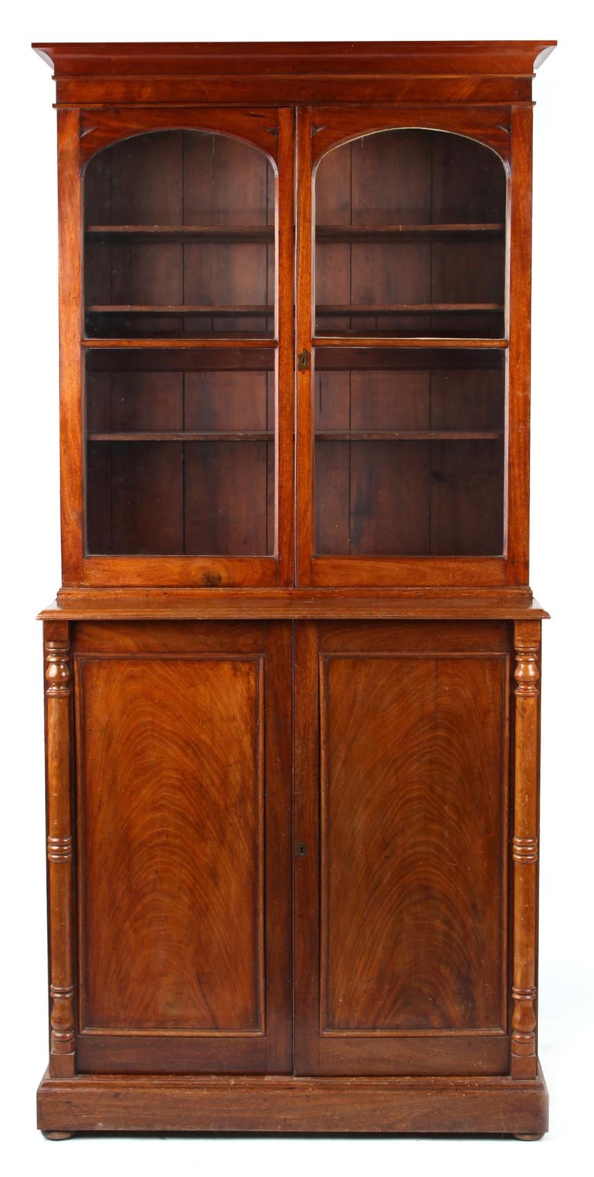 Lot 199 - Property of a deceased estate - a Victorian mahogany chiffonier bookcase with glazed upper