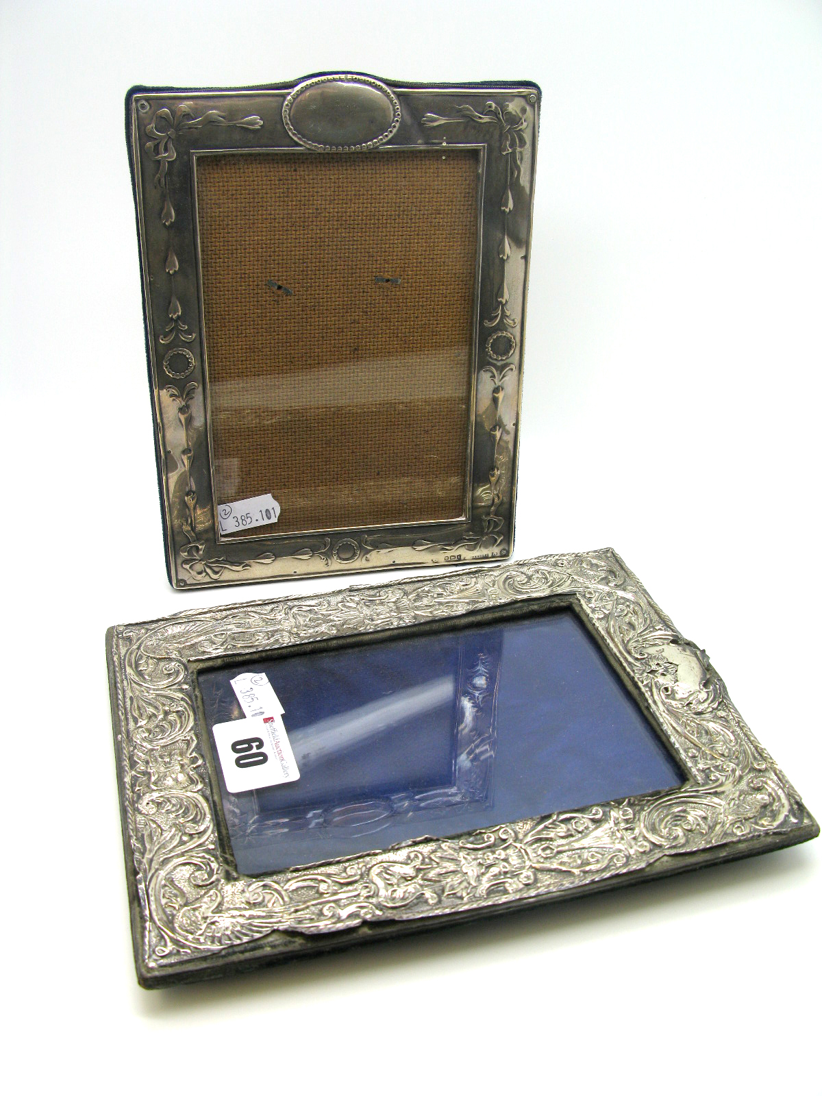 Lot 60 - A Hallmarked Silver Mounted Rectangular Photograph Frame, Birmingham 1907, on later easel back;