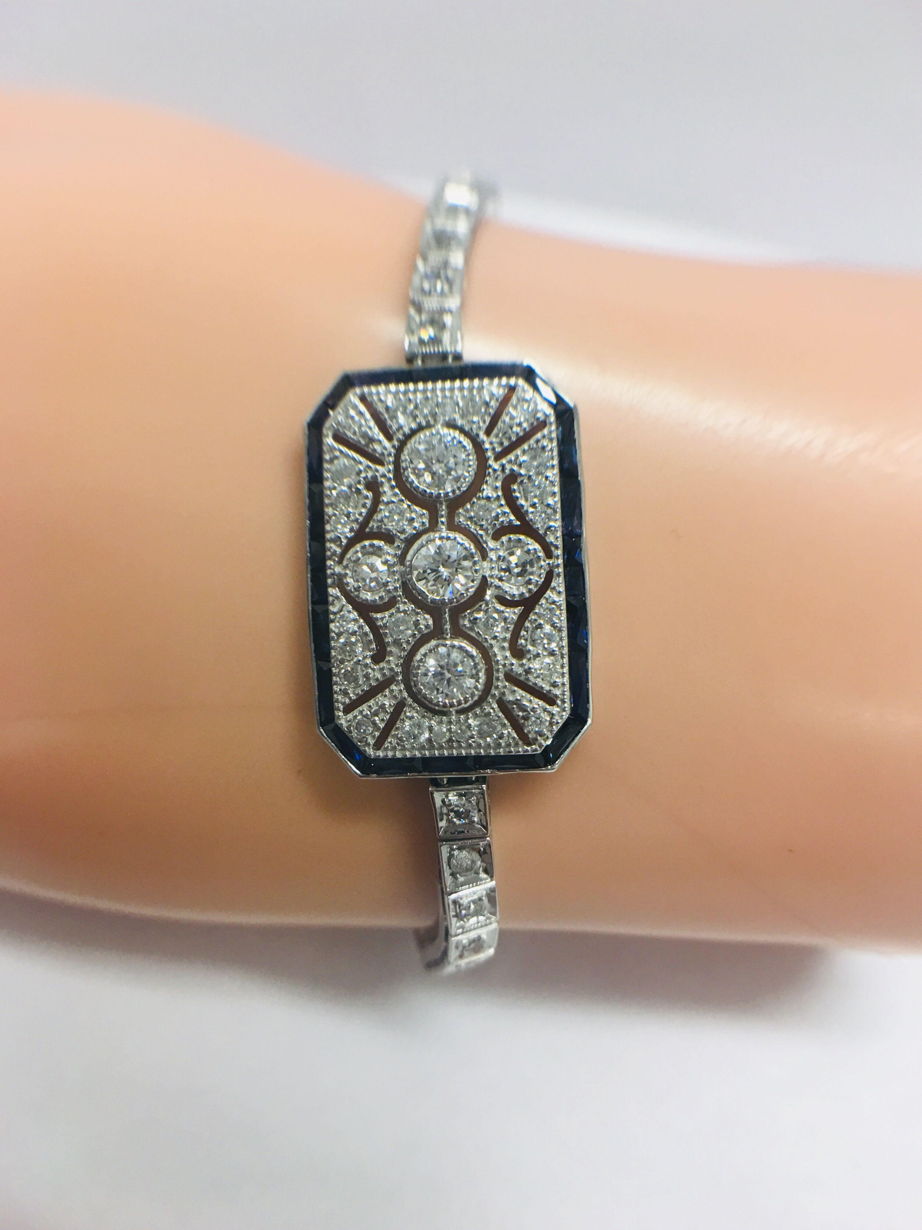 Lot 2 - Platinum Cocktail Bracelet