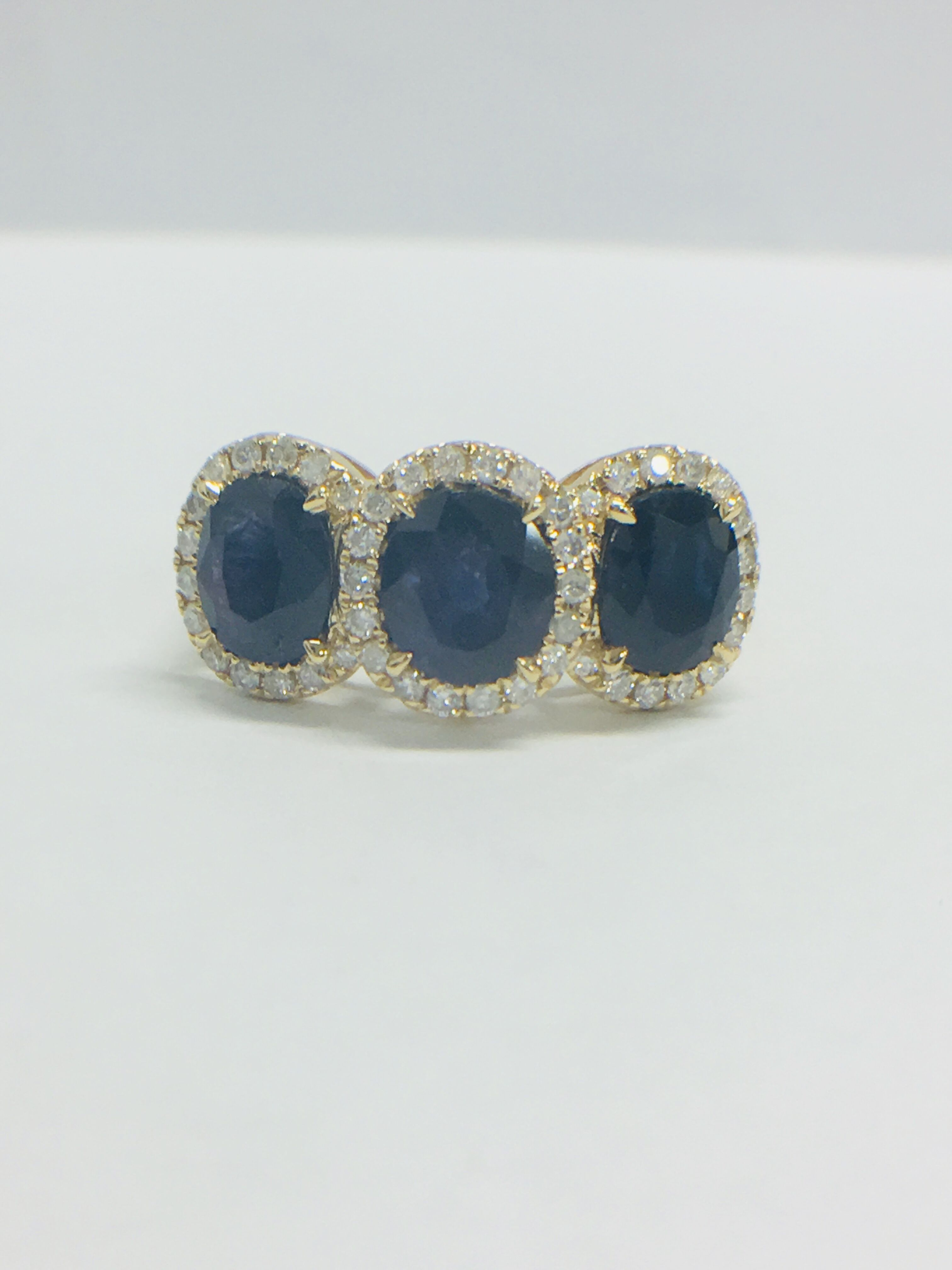 Lot 6 - 18ct Yellow Gold Sapphire and Diamond ring