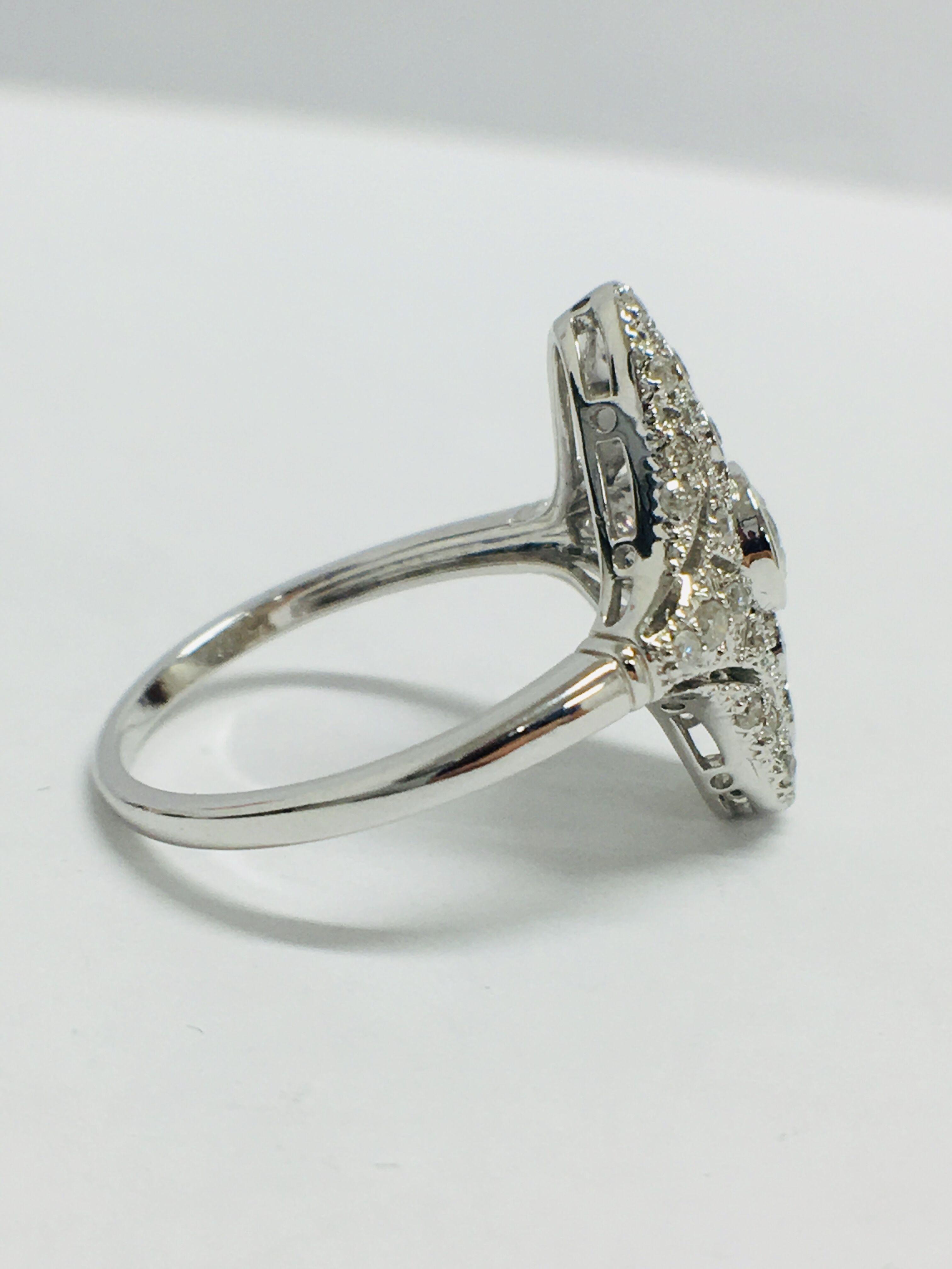 Lot 17 - 18ct White Gold Diamond Ring